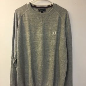 Fred Perry Sweater, Heather Grey